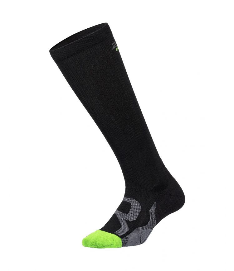 Comp Socks for Recovery|Black/Grey|S