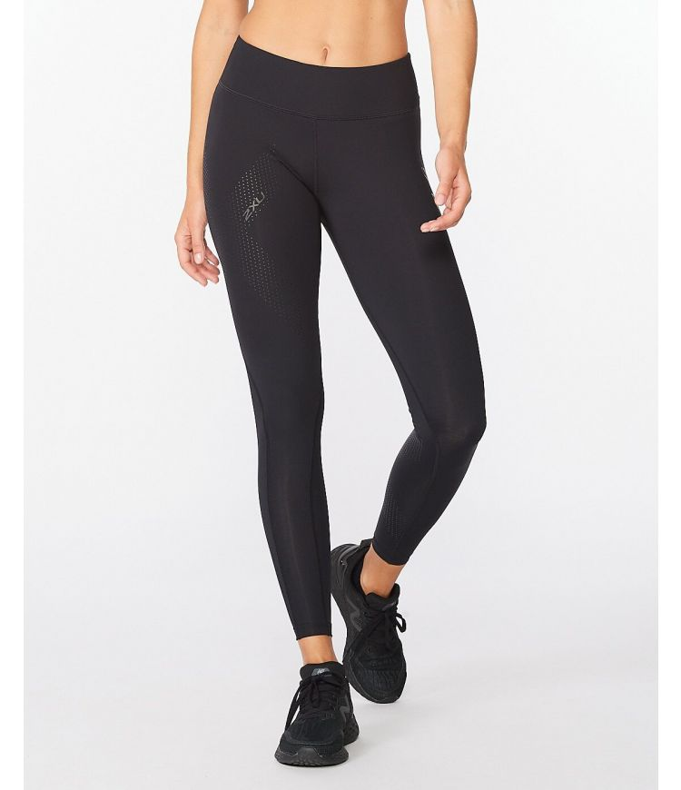 Mid-Rise Compression Tight|Black/Dotted Black Logo|XLT